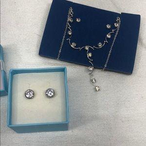 Avon CZ jewelry Lot! 2 sets of earrings & necklace